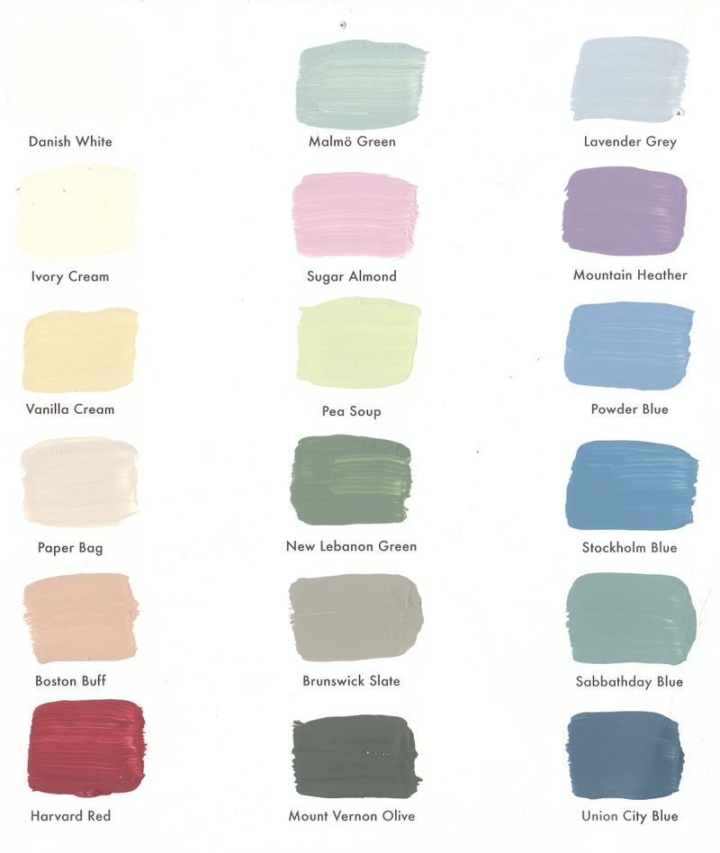 Colours for hen house